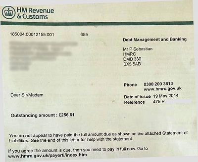 Hmrc Send Letter With Utr Number