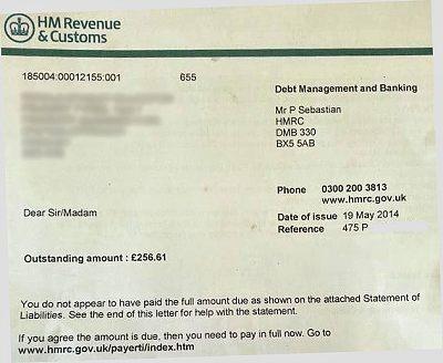 Blog letter from hmrc debt management spiritdancerdesigns Image collections